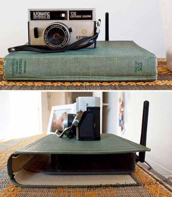 Wi-Fi modemi kitap kapağı ile bu şekilde gizlenir