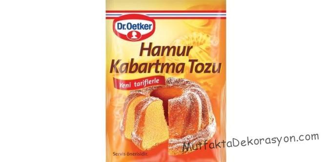 Kabartma tozu - Limon ve Karbonat tan oluşur, o yüzden yağları veya yanmış yerleri temizlemede çok pratik bir yöntem