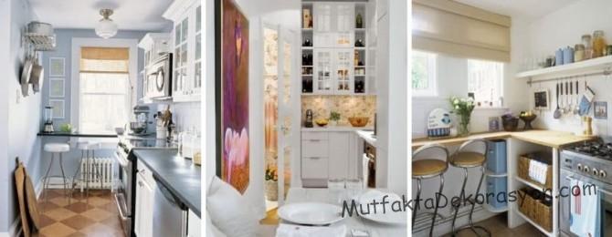 Küçük L tipi mutfak dekorasyonu