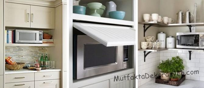 Küçük mutfakta Mikrodalga Fırının yerleşmesi