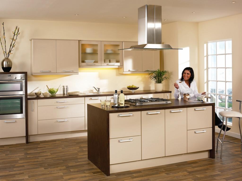 Koyu renkli modern bambu mutfak dolab modeli moda dekorasyonlar - Vizon Rengi Mutfak Dolaplari 23