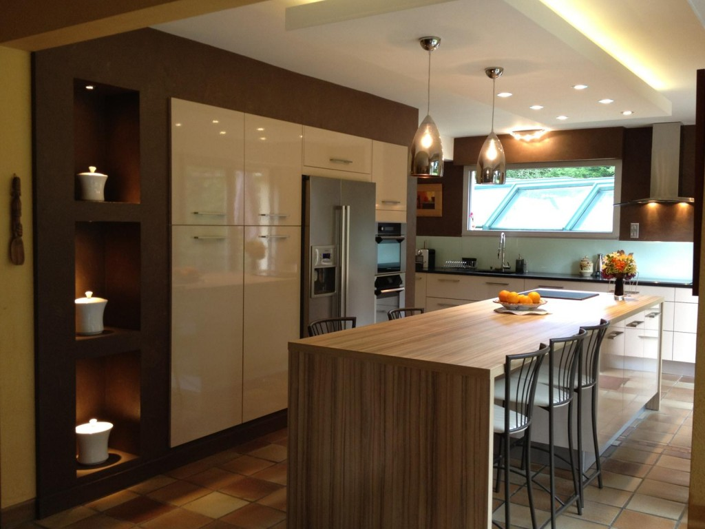 Koyu renkli modern bambu mutfak dolab modeli moda dekorasyonlar - Vizon Rengi Mutfak Dolaplari 4