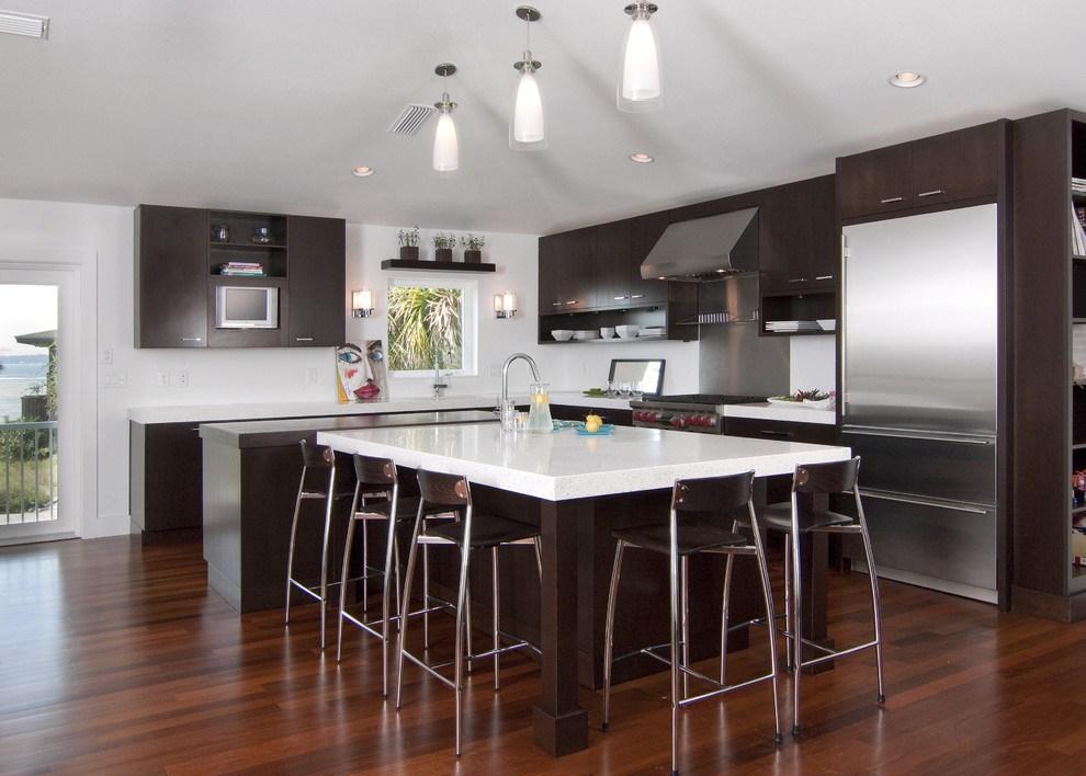 Ceviz rengi mutfak dolaplar mutfak dekorasyonu ve for Kitchen designs johannesburg