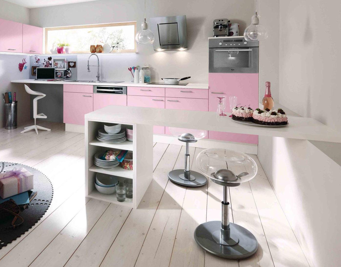 Modern beyaz mutfak dolab dizayni en son dekorasyon modelleri - Pudra Rengi Mutfak Dolaplari 24