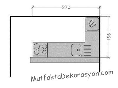 270x165 mutfak boyutu