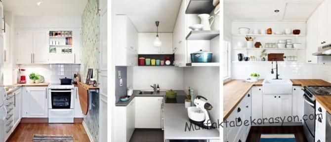 U tipi küçük mutfak dekorasyonu, 5,6,7 m2