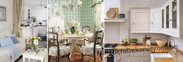 Feng Şui Mutfak dekorasyonun iyi bir örnek, Ahşap Yuvarlak masa, mutfak tergahı, açık renk dekorasyonu, çok rahat ışıklandırma